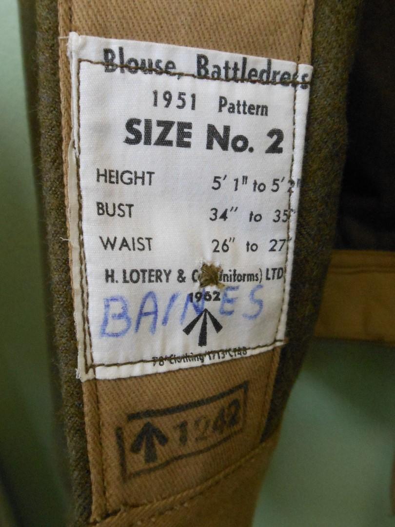 Queen Alexandra S Royal Army Nursing Corps Tunic No Rank